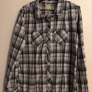 Guess ladies button down shirt blouse size XL